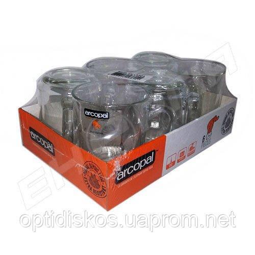 Чашка стекл. прозрачная Arcopal 250мл (выписывать кратно 6)