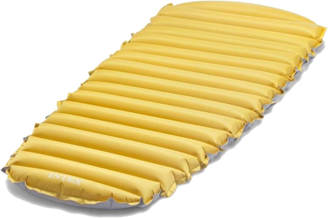 Туристический одноместный надувной матрас Intex 68708, 76х183х10 см