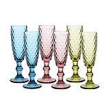 """Набор бокалов синие 6 шт, 150 мл """"Винтаж"""" ( бокалы для шампанского ), фото 3"""