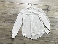Шифоновая блузка для девочек. 122- 152 рост.
