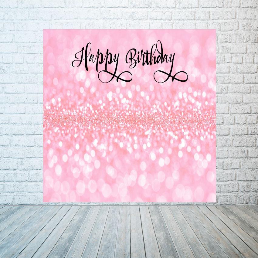 Баннер розовые блестки 2х2 м