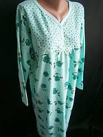 Теплые махровые женские ночные рубашки , фото 1
