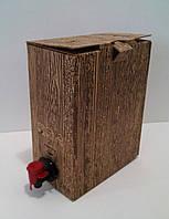 """Коробка 3 л """"Бег ин Бокс"""" с печатью 1цвет(дерево)"""