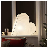 IKEA STRALA Украшение стола, сердце, белое  (104.066.36)