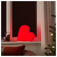 IKEA STRALA Украшение стола, сердце, красное  (604.066.53)