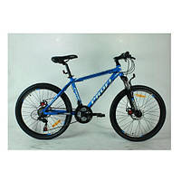 """Велосипед Profi G26A316-2 26"""" , дисковые тормоза.Синий"""
