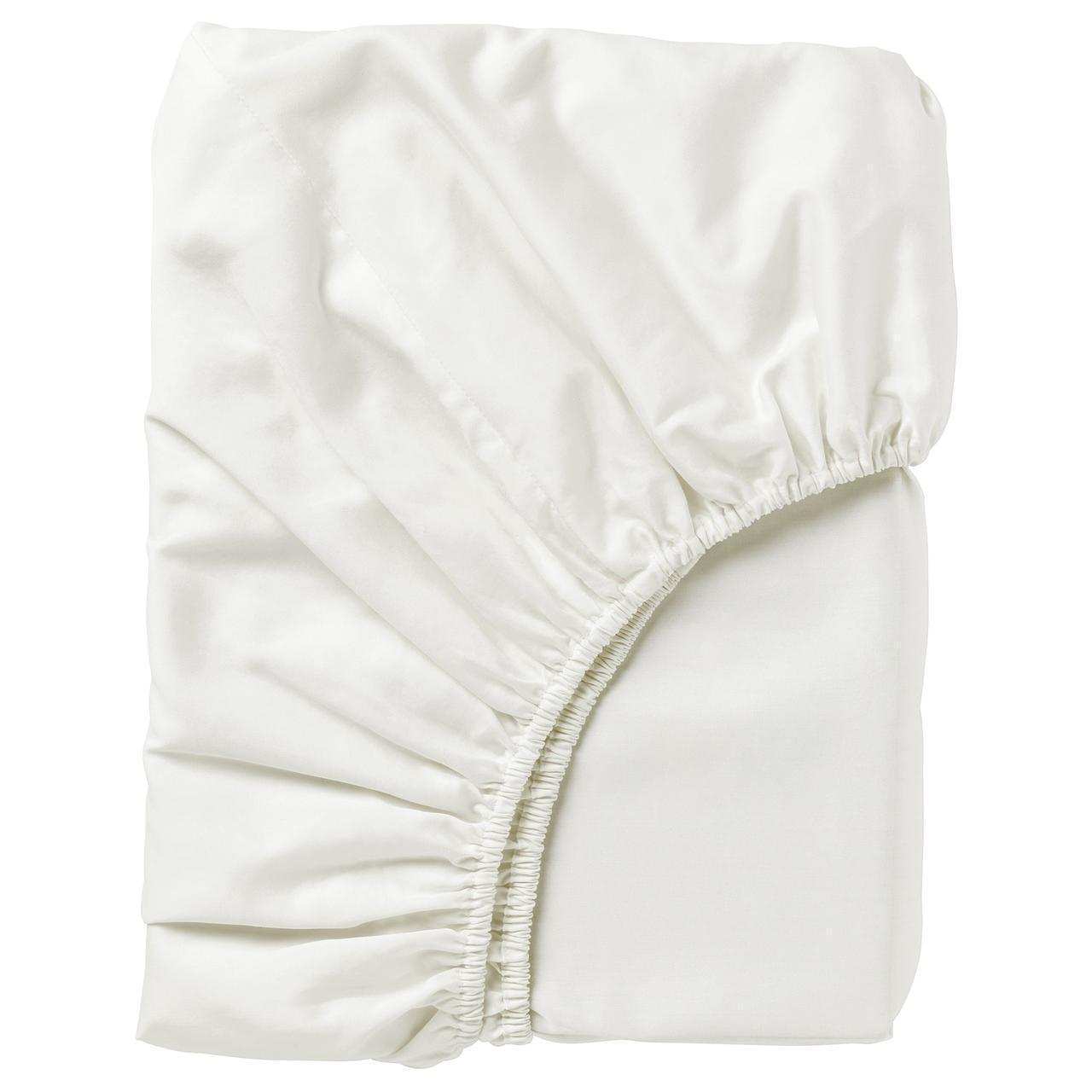 IKEA NATTJASMIN Простыня с резинкой, белый  (303.370.05)