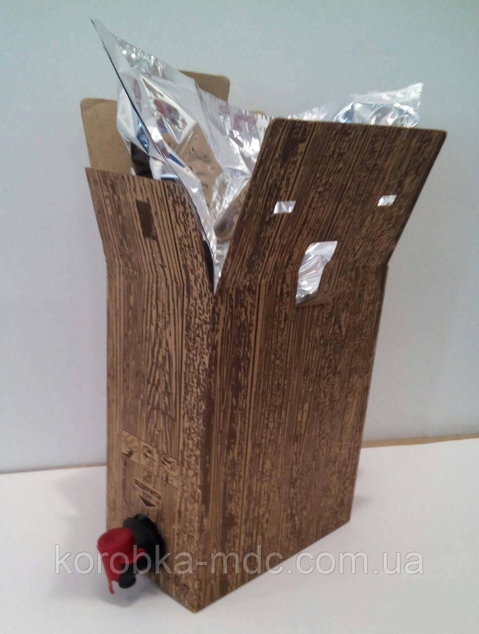 Картонная коробка Дерево с пакетом 3 литра