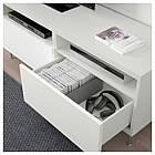 IKEA BESTA Тумба под телевизор с ящиками, белый, Сельсвикен/Сталларп глянцевый/белый  (592.671.77), фото 3