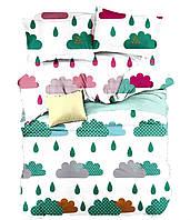 Комплект постельного белья 3D Хлопковый Детский NR 016 Oulaiya 9486 Белый, Розовый, Зеленый