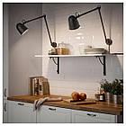 IKEA SKURUP Наcтольная/настенная лампа, черный  (903.260.23), фото 5