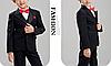 Черный костюм для мальчика  (тройка)