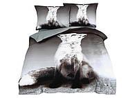 Комплект постельного белья 3D Luna Home NR 014 Oulaiya 3703 Серый