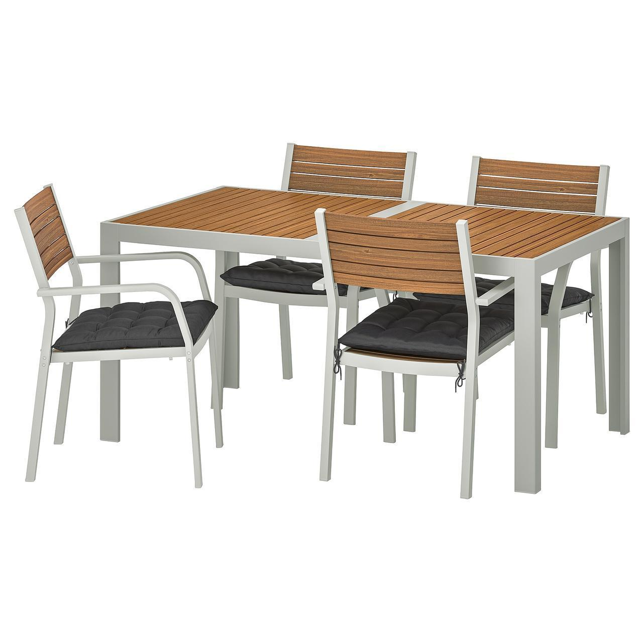 IKEA SJALLAND Садовый стол и 4 стула (092.927.30)