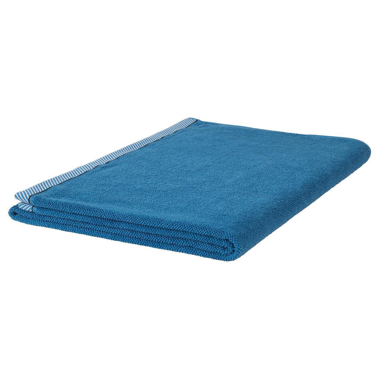IKEA VIKFJARD Банное полотенце, синий  (904.147.36)