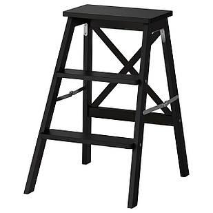 IKEA BEKVAM Табурет-лестница, черная  (902.198.29)