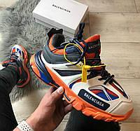 Balenciaga Track Orange Blue | кроссовки мужские и женские; синие-оранжевые; баленсиага трэк