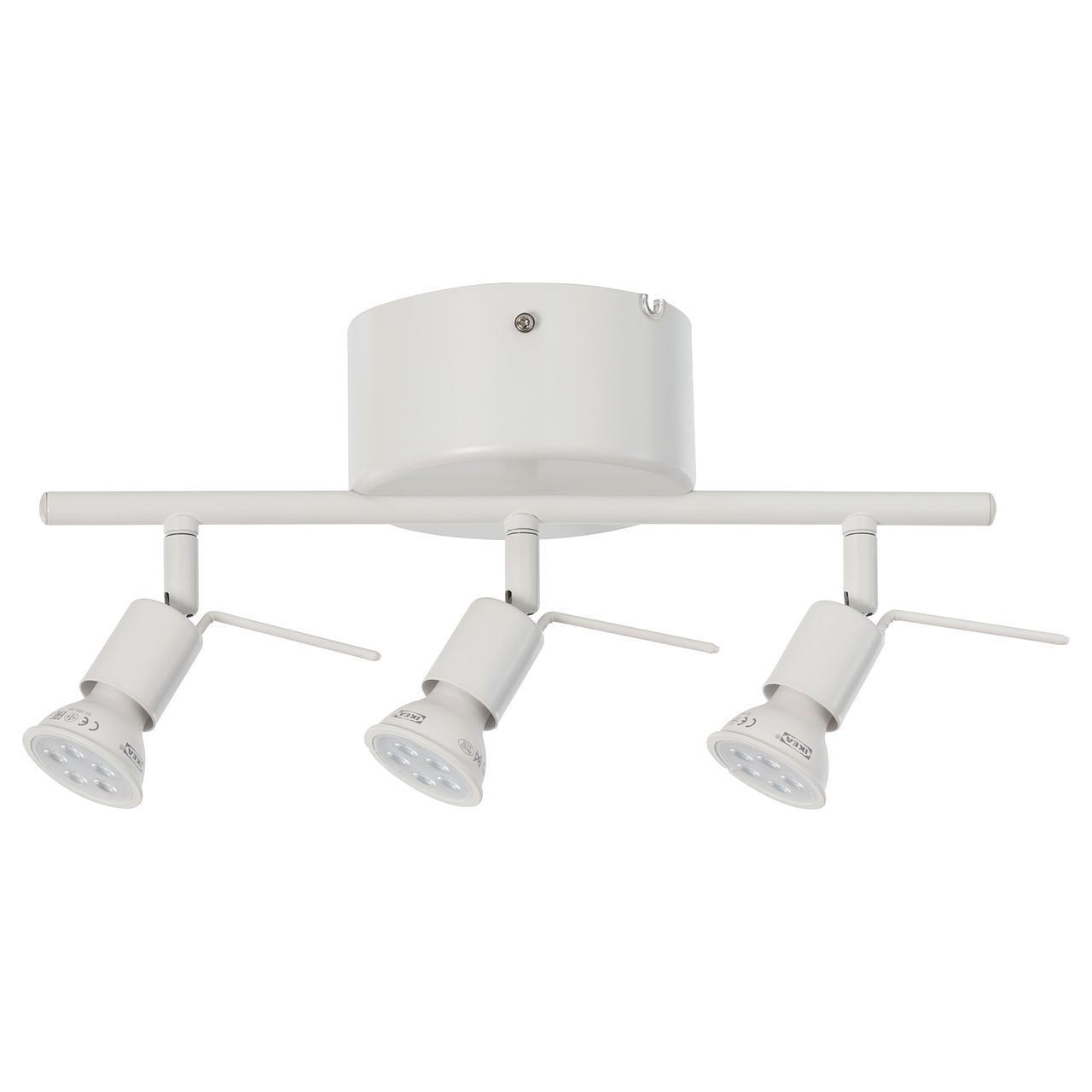 IKEA TROSS Потолочный светильник, 3 прожектора, белый  (602.626.59)