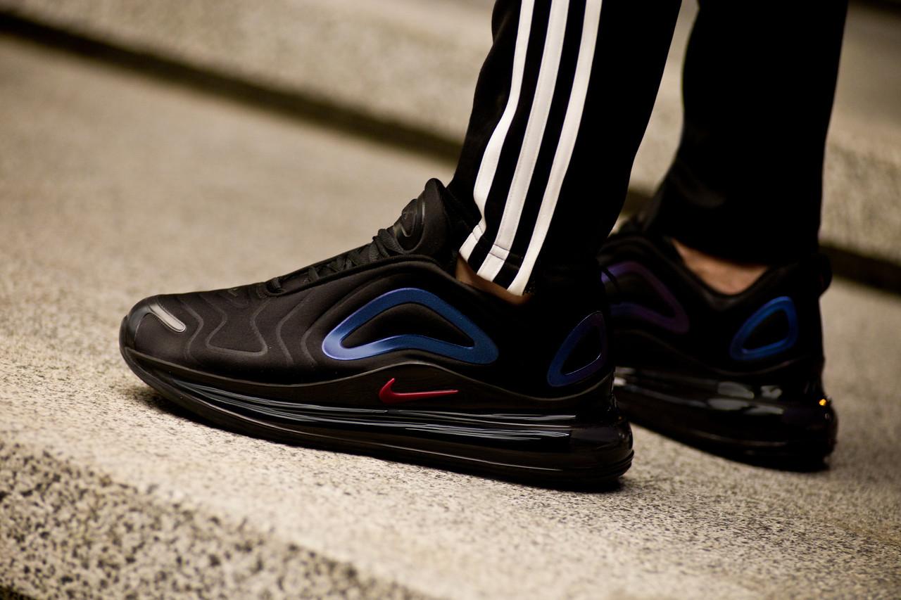Мужские кроссовки Nike Air Max 720 Black/Purple ( Реплика ) Остался 43 размер