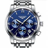 Мужские часы Guanquin 8802 Серебристый