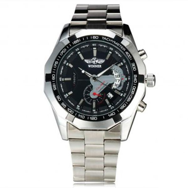 Мужские часы Winner 1038 Silver