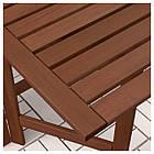 IKEA APPLARO Садовый стол и 4 раскладных стулья, коричневая морилка, (492.685.87), фото 2