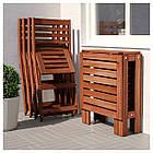 IKEA APPLARO Садовый стол и 4 раскладных стулья, коричневая морилка, (492.685.87), фото 3