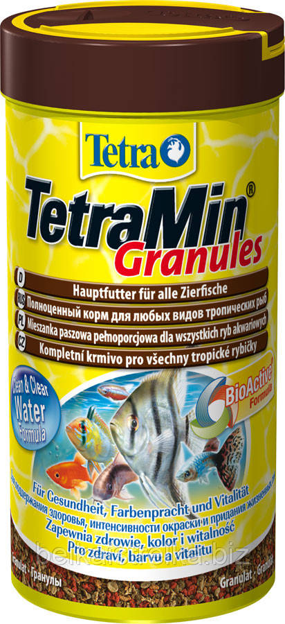 Корм для декоративных рыб Tetra Min Granules 250 мл, 139749