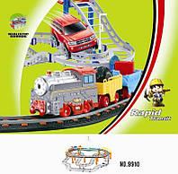 Железная дорога с поездом и машинкой, 74х60см. LiXin