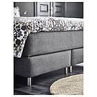 IKEA DUNVIK Кровать, Хoвaг средней жесткости, Tuddal темно-серый  (691.541.65), фото 4
