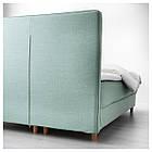 IKEA DUNVIK Кровать, Хoвaг жесткий, Tuddal светло-бирюзовый  (991.868.05), фото 3
