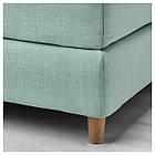 IKEA DUNVIK Кровать, Хoвaг жесткий, Tuddal светло-бирюзовый  (991.868.05), фото 4