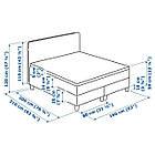 IKEA DUNVIK Кровать, Хoвaг жесткий, Tuddal светло-бирюзовый  (991.868.05), фото 5