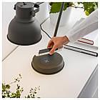 IKEA HEKTAR Настольная лампа, беспроводная зарядка, темно-серый  (603.234.36), фото 5