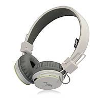 Наушники NIA X2  Bluetooth + Mp3 плеер и Fm Белые