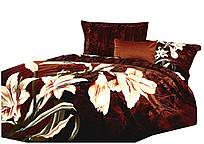 Комплект постельного белья 3D Хлопковый Сатин 092 H Collection World 2390 Коричневый