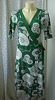 Платье женское на запах вискоза стрейч миди бренд H&M р.44-46, фото 1