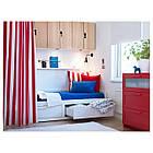 IKEA BRIMNES Раскладная кровать с 2 ящиками и 2 матрасами, белый, Хусвика жесткий  (791.838.55), фото 5