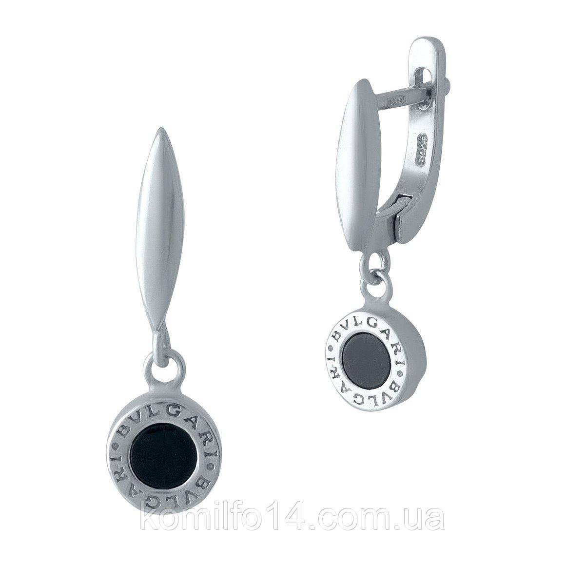 Серебряные серьги Bulgari