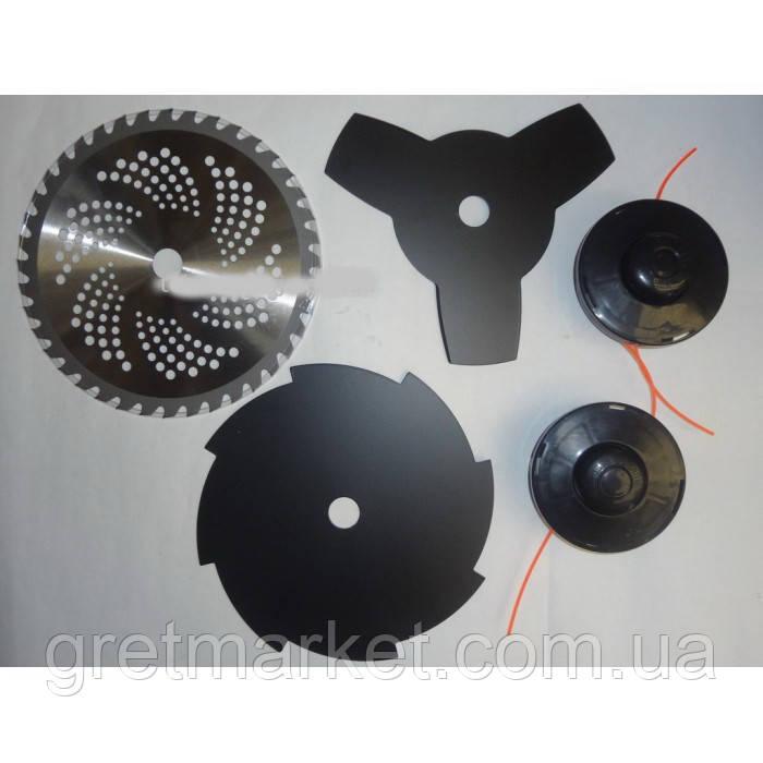 Бензокоса Craft-tec GS-777 4400w (3 ножа+2 шпули) - фото 5
