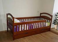 Детская кровать Карина Люкс 80*190 от ПРОИЗВОДИТЕЛЯ Орех