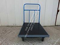 Тележка ручная платформенная с резиновым покрытием и и окантовкой резиновым уголком 900х600мм  (Цена без НДС)