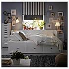 IKEA HEMNES Раскладная кровать с 3 ящиками, белый  (903.493.26), фото 3