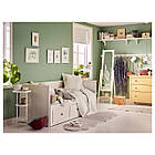 IKEA HEMNES Раскладная кровать с 3 ящиками, белый  (903.493.26), фото 5