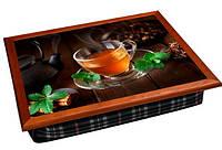 Поднос с подушкой Мятный Чай