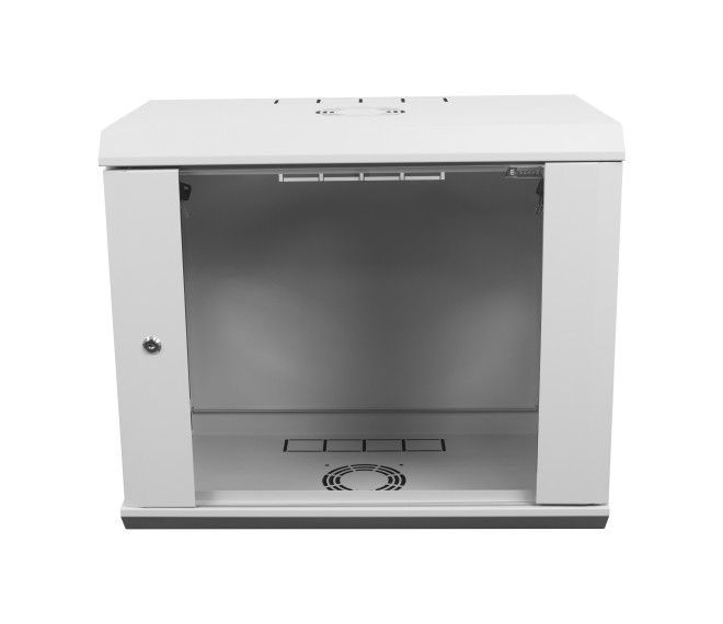 Шкаф серверный настенный 12U-350, стекло, серый