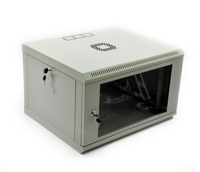 Шкаф телекоммуникационный настенный 9U, 600х350х507 мм (ш*г*в), эконом, акриловое стекло, серая