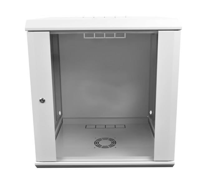 Настенный серверный шкаф 15U-500, стекло, серый