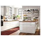 IKEA KUNGSFORS Кухонный стеллаж, нержавеющая сталь, ясень  (292.543.41), фото 4