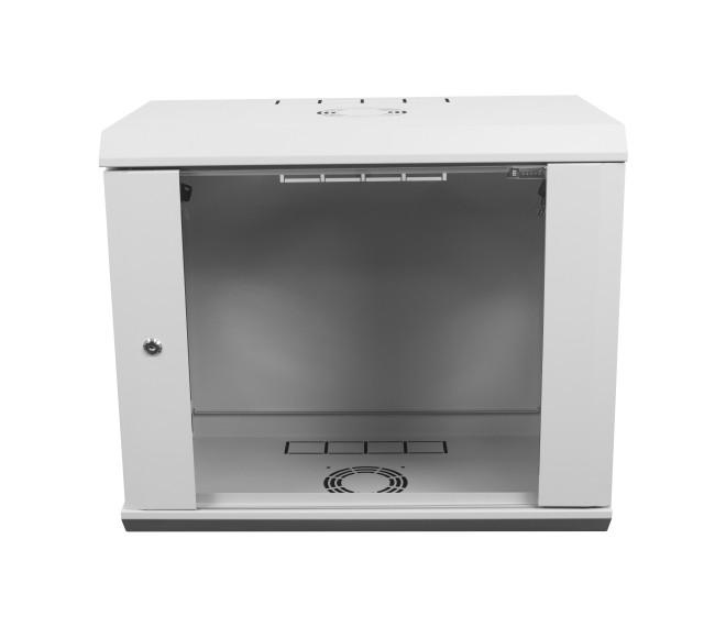 Шкаф серверный настенный 12U-600, стекло, серый